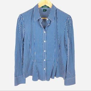 NEW! Lauren Ralph Lauren stripe button down shirt